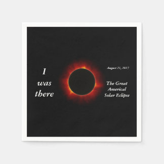 """2017 Solar Eclipse """"I was there"""" edition Disposable Napkins"""