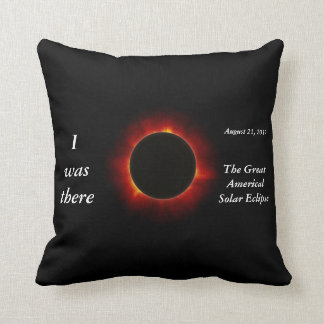 "2017 Solar Eclipse ""I was there"" edition Throw Pillow"