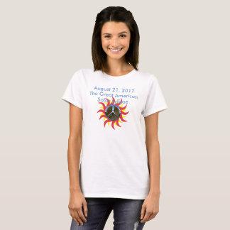 2017 Solar Eclipse Peace Symbol Version T-Shirt