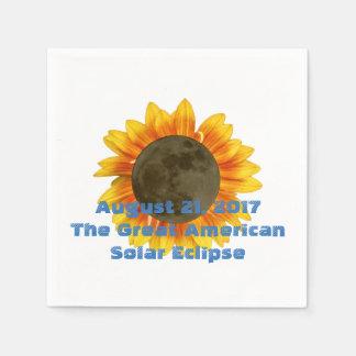 2017 Solar Eclipse, Sunflower Edition Paper Napkin
