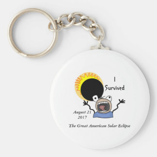 2017 Solar Eclipse Survival Edition Keychain
