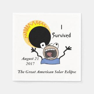 2017 Solar Eclipse Survival Edition Paper Napkin