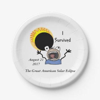 2017 Solar Eclipse Survival Edition Paper Plate