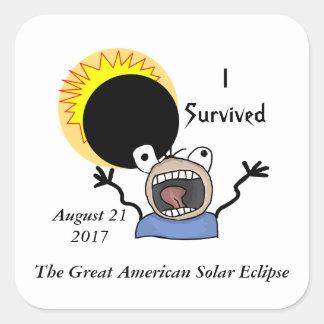 2017 Solar Eclipse Survival Edition Square Sticker