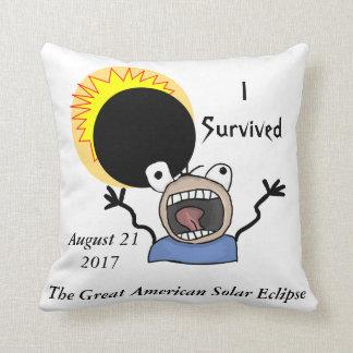 2017 Solar Eclipse Survival Edition Throw Pillow