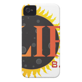 2017 Solar Eclipse Text Abstract Illustration Case-Mate iPhone 4 Cases