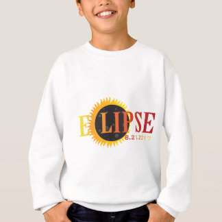 2017 Solar Eclipse Text Abstract Illustration Sweatshirt