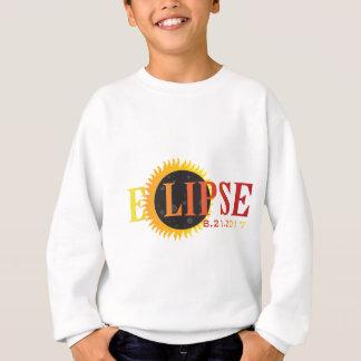 2017 Solar Eclipse Text Abstract Illustration Sweatshirt