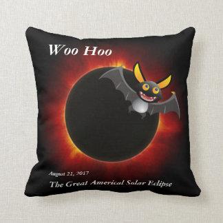 2017 Solar Eclipse, Vampire Edition Throw Pillow