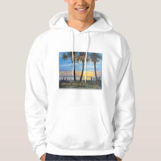 2017 SPRING BREAK FLA PALM TREE OCEAN MENS HOODIE