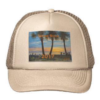 2017 SPRING BREAK OCEAN PALM TREES TRUCKER HAT