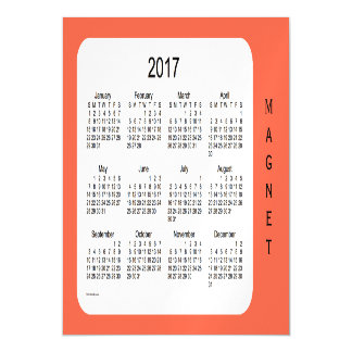 2017 Tomato Red Calendar by Janz 7x5 Magnet Magnetic Invitations