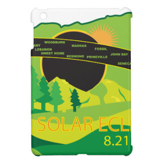 2017 Total Solar Eclipse Across Oregon Cities Map Cover For The iPad Mini