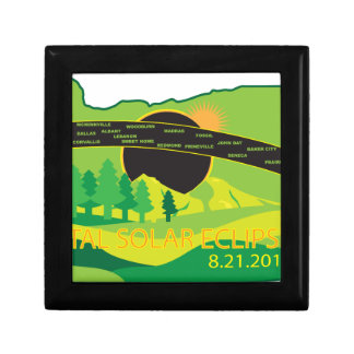 2017 Total Solar Eclipse Across Oregon Cities Map Gift Box