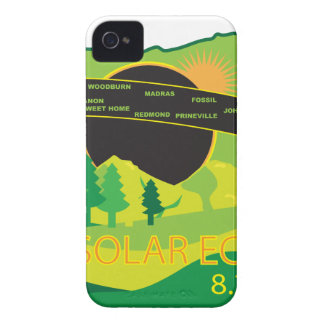 2017 Total Solar Eclipse Across Oregon Cities Map iPhone 4 Case-Mate Case