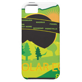 2017 Total Solar Eclipse Across Oregon Cities Map iPhone 5 Cases