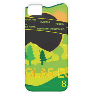 2017 Total Solar Eclipse Across Oregon Cities Map iPhone 5 Cover