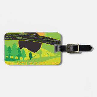 2017 Total Solar Eclipse Across Oregon Cities Map Luggage Tag