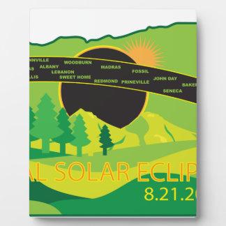 2017 Total Solar Eclipse Across Oregon Cities Map Plaque