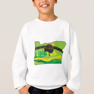 2017 Total Solar Eclipse Across Oregon Cities Map Sweatshirt
