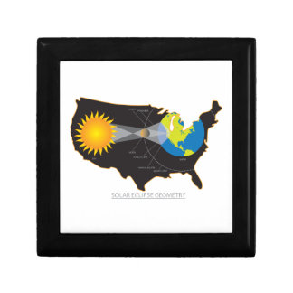 2017 Total Solar Eclipse Across USA Geometry Gift Box