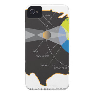 2017 Total Solar Eclipse Across USA Geometry iPhone 4 Case