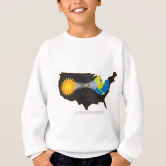 2017 Total Solar Eclipse Across USA Geometry Sweatshirt