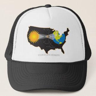 2017 Total Solar Eclipse Across USA Geometry Trucker Hat
