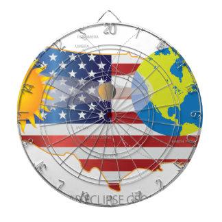 2017 Total Solar Eclipse Across USA Map Geometry Dartboard