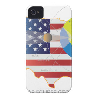 2017 Total Solar Eclipse Across USA Map Geometry iPhone 4 Cases