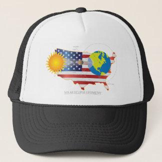 2017 Total Solar Eclipse Across USA Map Geometry Trucker Hat
