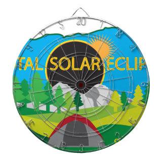 2017 Total Solar Eclipse Camping Trip Map Dartboard