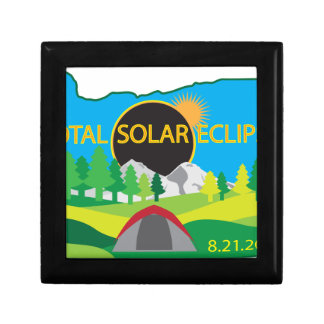 2017 Total Solar Eclipse Camping Trip Map Gift Box
