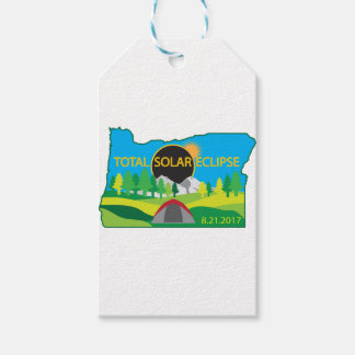 2017 Total Solar Eclipse Camping Trip Map Gift Tags