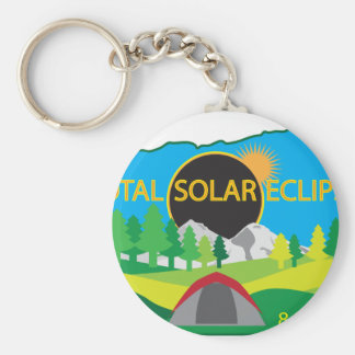2017 Total Solar Eclipse Camping Trip Map Keychain