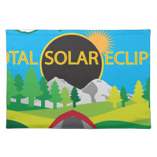 2017 Total Solar Eclipse Camping Trip Map Placemat