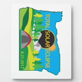 2017 Total Solar Eclipse Camping Trip Map Plaque