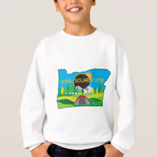 2017 Total Solar Eclipse Camping Trip Map Sweatshirt