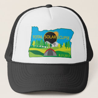 2017 Total Solar Eclipse Camping Trip Map Trucker Hat