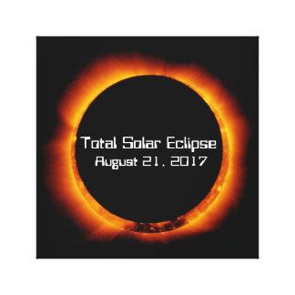 2017 Total Solar Eclipse Canvas Print