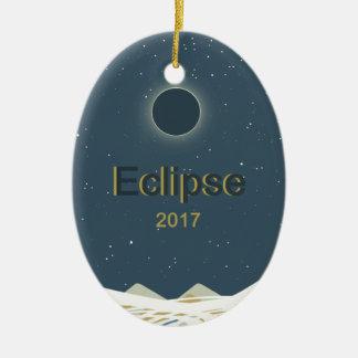 2017 Total Solar Eclipse Ceramic Ornament