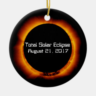 2017 Total Solar Eclipse Ceramic Ornament