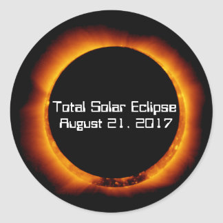 2017 Total Solar Eclipse Classic Round Sticker