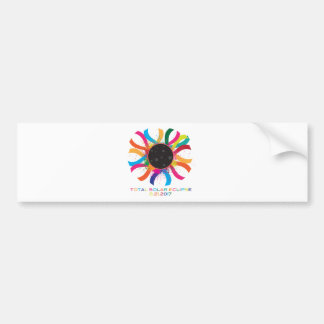 2017 Total Solar Eclipse Corona Text Color Bumper Sticker