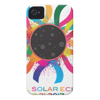 2017 Total Solar Eclipse Corona Text Color Case-Mate iPhone 4 Cases