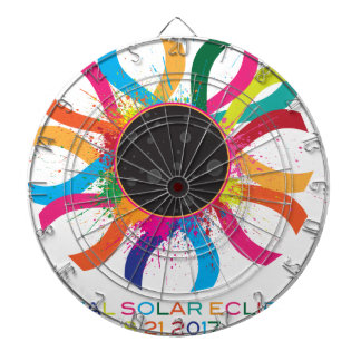 2017 Total Solar Eclipse Corona Text Color Dartboard