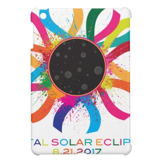 2017 Total Solar Eclipse Corona Text Color iPad Mini Covers