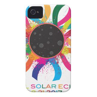 2017 Total Solar Eclipse Corona Text Color iPhone 4 Case