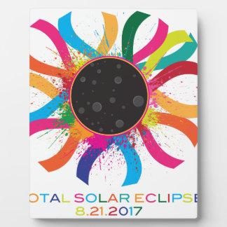 2017 Total Solar Eclipse Corona Text Color Plaque
