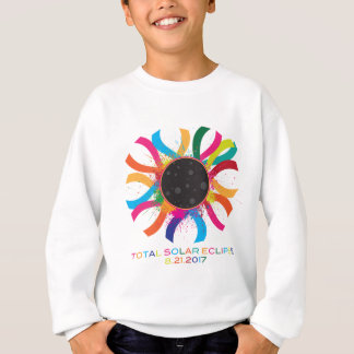2017 Total Solar Eclipse Corona Text Color Sweatshirt